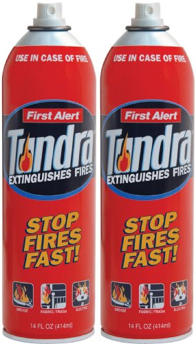 First Alert AF400-2 Tundra Fire Extinguishing Aerosol Spray, Pack of 2 (Extinguisher Co2)