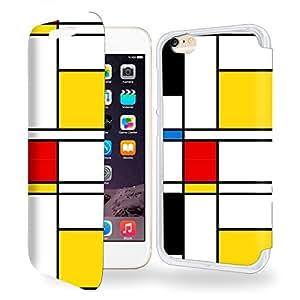 Geometric Abstract Colored Collection Pattern Funda de Cuero para Iphone 6 4.7 Flip Case Cover (Estuche) - FUNDA SOPORTE / PU Cuero - Accesorios Case Industry Smart Magnet