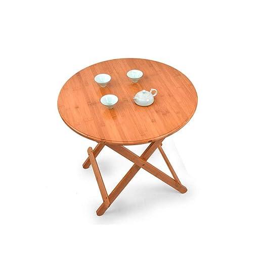 Mesa de tamaño pequeño Mesa de Comedor portátil de bambú Plegable ...