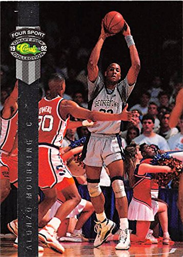 Alonzo Mourning basketball card (Georgetown Hoyas) 1992 Classic #BC1 Pre Rookie