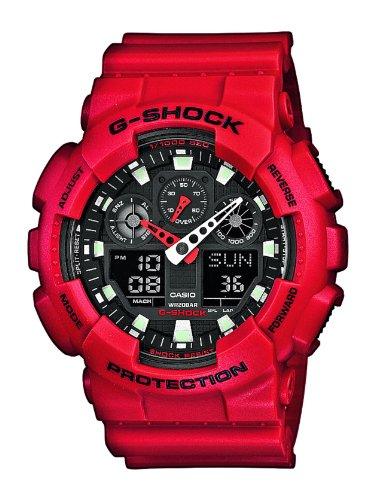 Reloj Casio para Hombre GA-100B-4AER, Rojo