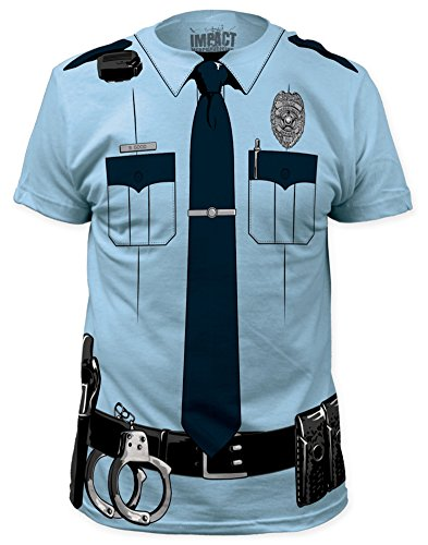 [Impact Originals Police Cop Uniform Costume Tee (Medium)] (Cop Costumes Tshirt)