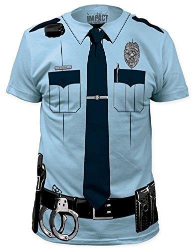 [Impact Originals Police Cop Uniform Costume Tee (X-Large)] (Cop Hat)