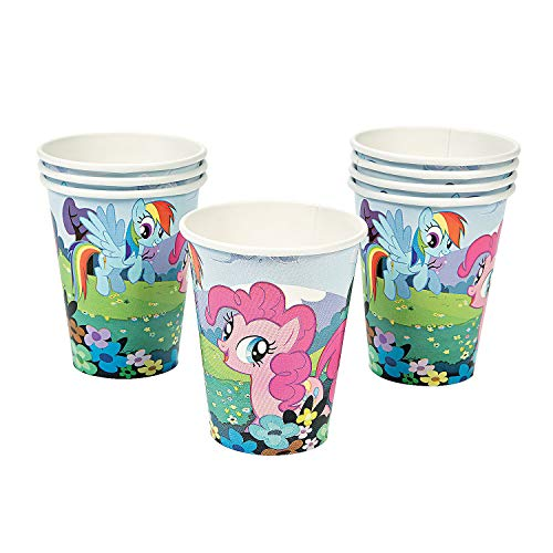 Fun Express - My Little Pony Magic 9oz Cups for Birthday - Party Supplies - Licensed Tableware - Licensed Cups - Birthday - 8 Pieces ()