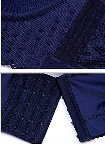 Midi Vestito 4 3 Umes Sottile Les Donne Bodycon Vestito Delle Panino Manica Blu RqInxWAf