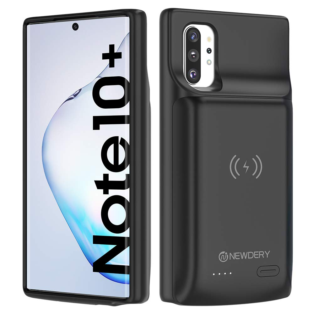 NEWDERY Galaxy Note 10 Plus Battery Case 10000mAh, Fast Charging Wireless Charging Case, NFC& Android Auto & Samsung Dex…