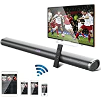 Soundbar, OCDAY 35 Inch 40W Wireless Sound Bar, Bluetooth Wall Mountable Stereo Audio Speaker, 2.0 Channel Home Theater Surround Sound with Remote & Optical Cables for TV/PC/Tablet/Mp3/Smartphone
