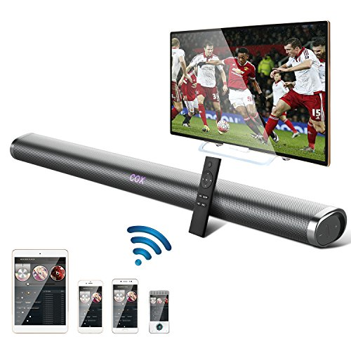 Soundbar, OCDAY 35 Inch 40W Wireless Sound Bar, Bluetooth Wall Mountable Stereo Audio Speaker, 2.0 Channel Home Theater Surround Sound with Remote & Optical Cables for TV/PC/Tablet/Mp3/Smartphone by OCDAY