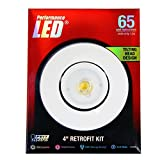 Feit LEDR4ADJ/830 65W Equivalent 4 Adjustable Retrofit Kit, Soft White by Feit