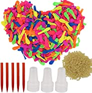 500 Pack Water Balloons, Self-sealing Water Balloons Refill Kits, Eco-Friendly Latex Water Bomb Balloons, Wate