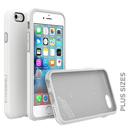 RhinoShield Case for iPhone 6 Plus/iPhone 6S Plus [PlayProof] | Heavy Duty Shock Absorbent [High Durability] Scratch Resistant. Ultra Thin. 11ft Drop Protection Rugged Cover - White