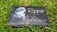 "Personalised Pet Stone Memorial Marker Granite Marker Dog Cat Horse Bird Human 4"" X 7"" X 2"" Custom Design Personalized German Shepherd"