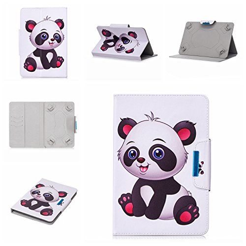 lio Case for 9-10.1 inch Tablet, PU Leather Stand Cover with Card Stylus Slots for 10