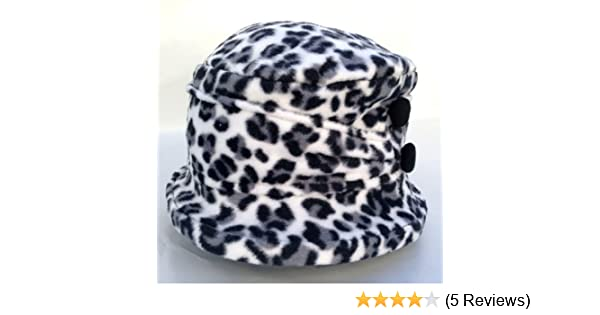 Amazon.com   Jeanne Simmons Women s Small Brim Polar Fleece Bucket Hat ( Black   White Cheetah - Black Button)   Beauty Products   Beauty 7a0a54b11c34