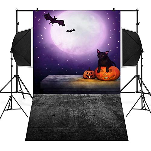 Halloween Clearance, Pumpkin Backdrops Vinyl 3x5FT Fireplace Background Photography Studio, 90x150cm (C)
