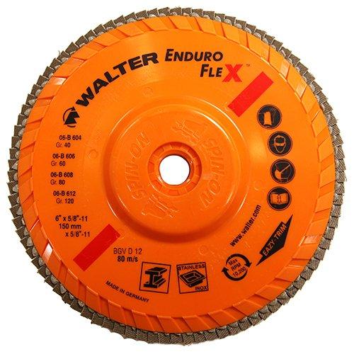 "Walter Enduro-Flex Flap Disc, 6"" diameter, 60"