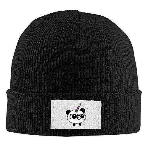 Knit Panda - Adult Unicorn Panda Nerd Winter Acrylic Knit Beanie Hat Skull Cap