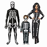 Freelyna Hallowmas Cosplay Clothing Series Long Sleeve Skeleton Print Dress for family