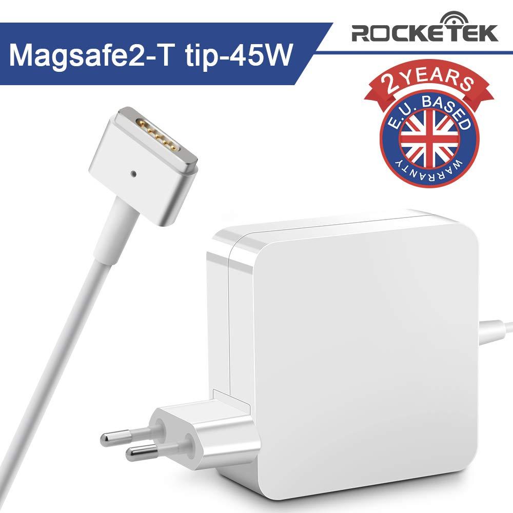 Rocketek Mac Book Air Ladeger/ät 45W Ladeger/ät T-Tip Adapter Ersatz Magsafe 2 Anschluss Netzteil f/ür Mac Book Air 11 Zoll und 13 Zoll Nach Mitte 2012 Kompatibel mit MacBook Air 2012-2018 Version