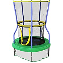 """Skywalker Trampolines 40"""" Round Lily Pad Adventure Trampoline Mini Bouncer with Enclosure"""