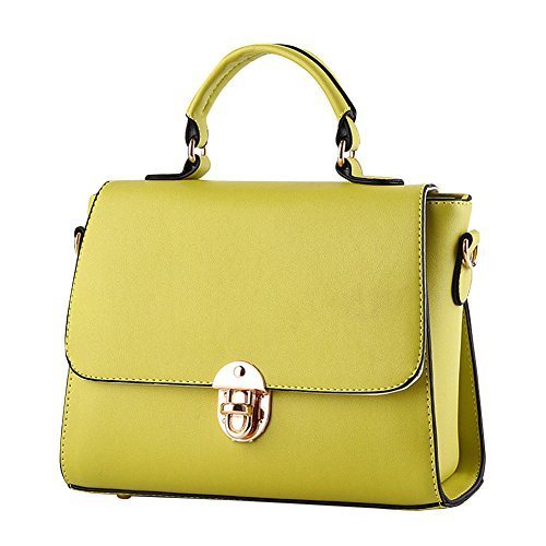 Shoulder Leather Black Handle women new bag middle leather Women fashion Women Ladies Tote Green PU Handbags PU style for Top new handbags Bags w1fYFqX