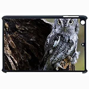Customized Back Cover Case For iPad Air 5 Hardshell Case, Black Back Cover Design Owl Personalized Unique Case For iPad Air 5 wangjiang maoyi