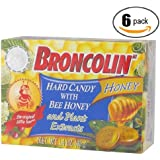 6pk - Broncolin Pastillas - Cough Drops - Hard Candy