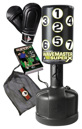 Century Super X Wavemaster Combo Free Standing Heavy Bag, Bag Gloves, and Workout DVD