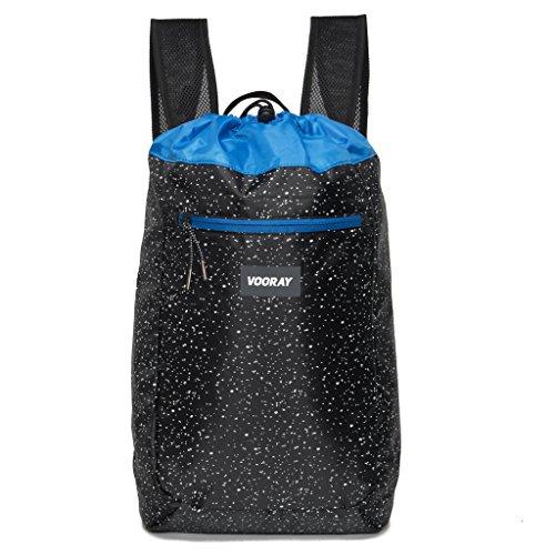 vooray-stride-16l-cinch-drawstring-backpack-black-speckle