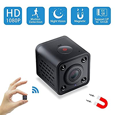 Mini Spy Camera WiFi,Wireless Hidden Camera Pet Nanny Cam Video Recorder with Motion Detection,HD 1080P Night Vision Remote Viewing Camera for Home Surveillance Security,Support iOS & Android from Yelomin