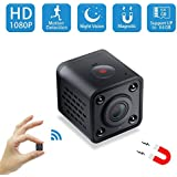 Mini Spy Camera WiFi,Wireless Hidden Camera Pet Nanny Cam Video Recorder with Motion Detection,HD 1080P Night Vision Remote Viewing Camera for Home Surveillance Security,Support iOS & Android (Black)