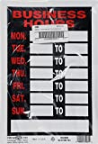 Hillman 839888 Business Hours Sign with Space for Fill In, Black, Red and White Plastic, 8x12 Inches 1-Sign