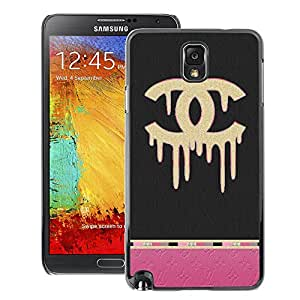 A-type Arte & diseño plástico duro Fundas Cover Cubre Hard Case Cover para Samsung Note 3 N9000 (Pink Fashion Bling Clothing Grey)