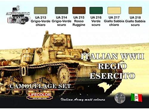Pitture Italian Wwii Regio Esercito 6x 22ml Acrilico Colours