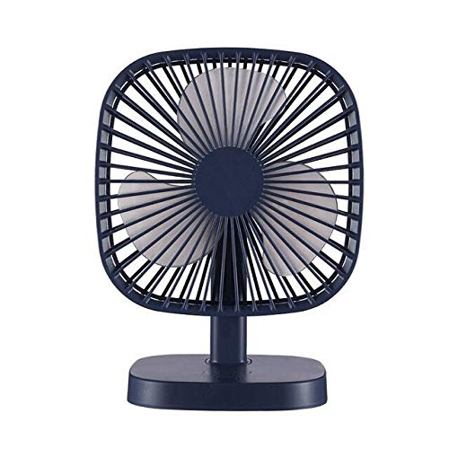 Mini Laptop Mini USB Desk Fan, 3 Speeds, Lower Noise, Desktop Table Cooling Fan Powered by USB Fan for Home and Office Car Outdoor Travel (Navy Blue)