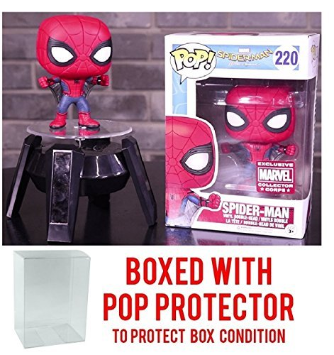 Web Corp - Funko Pop! Marvel Collector Corps: Spider-Man Homecoming - Spider-Man with Web Wings Exclusive - Vinyl Figure (Bundled with Pop BOX PROTECTOR CASE)