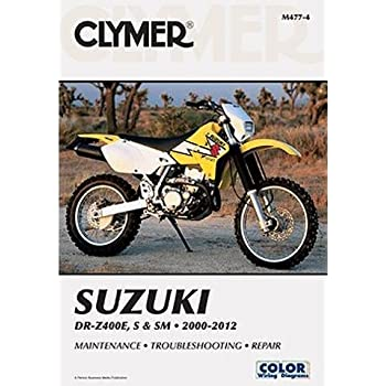 amazon com clymer repair manual for suzuki drz400e s sm 00 09 rh amazon com suzuki drz 400 sm repair manual suzuki drz400e service manual