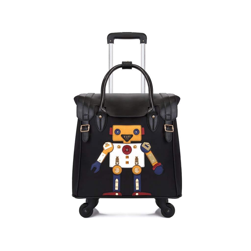ポータブルスーツケーストロリーバッグトロリーケースシャシー防水荷物ユニバーサルホイールトレンディな人格、年齢に関係なく、シーンに関係なく (Color : B)   B07K1ZGNQ8