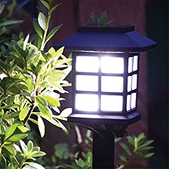 6 faroles solares para césped al aire libre, jardín, luz solar, paisaje, luz solar retro: Amazon.es: Iluminación