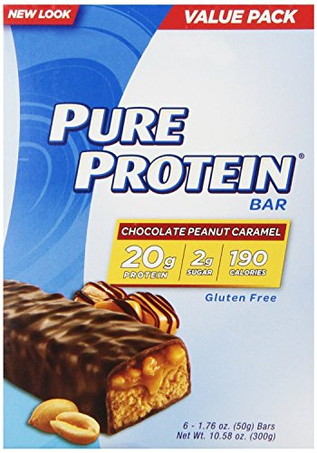 Pure Protein Value Pack, Chocolate Peanut Caramel, 1.76 oz. Bars, 36 Count