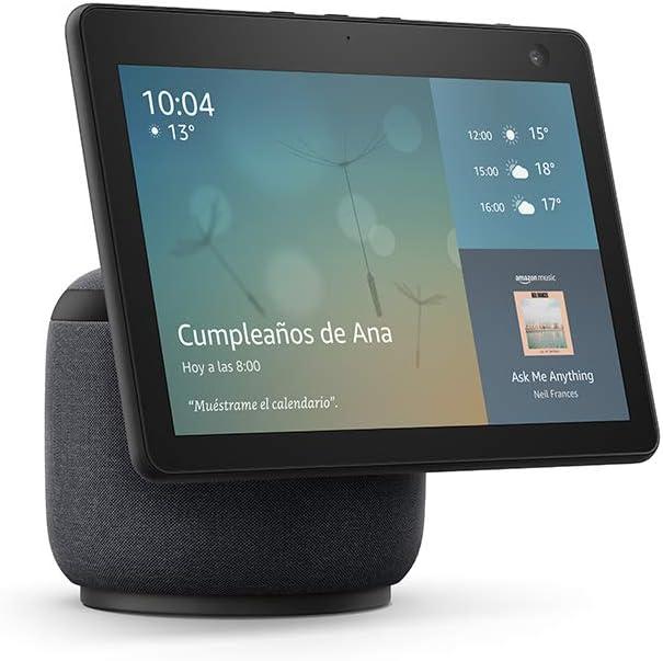 Nuevo Echo Show 10 (3.ª generación) | Pantalla inteligente HD con movimiento y Alexa, Antracita de Amazon