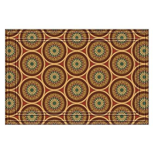 Apache Mills Medallions Faux-Coir Doormat - 24 x 36