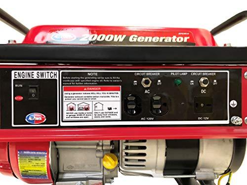power america apg  watt portable generator  gas powered compact design