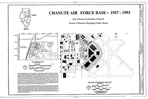 Historic Pictoric Blueprint Diagram HABS Ill,10-Ran.V,1- (Sheet 1 of 1) - Chanute Air Force Base, East of Route 45 & South of Rantoul, Rantoul, Champaign County, IL 12in x 08in