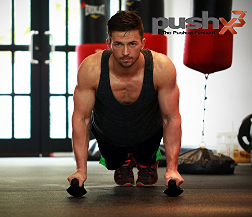 PushX3 | Push Up Exercise Equipment | Engage Your Muscles | The Pushup Evolved.