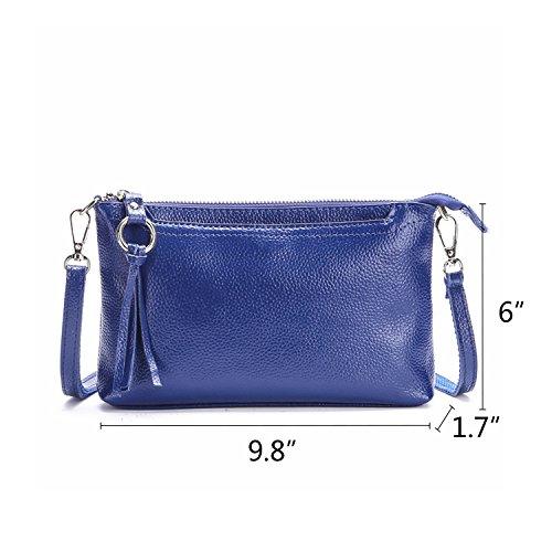 Leather Crossbody Lightweight NOTAG Shoulder Wallet Casual Purse Clutch Bag Bag Blue Handbag Bdwwxf