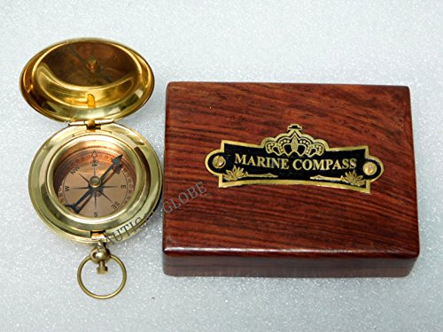 Critsmas gift Brass Hand made push button compass Directional Pocket Compass Fully Working Compass