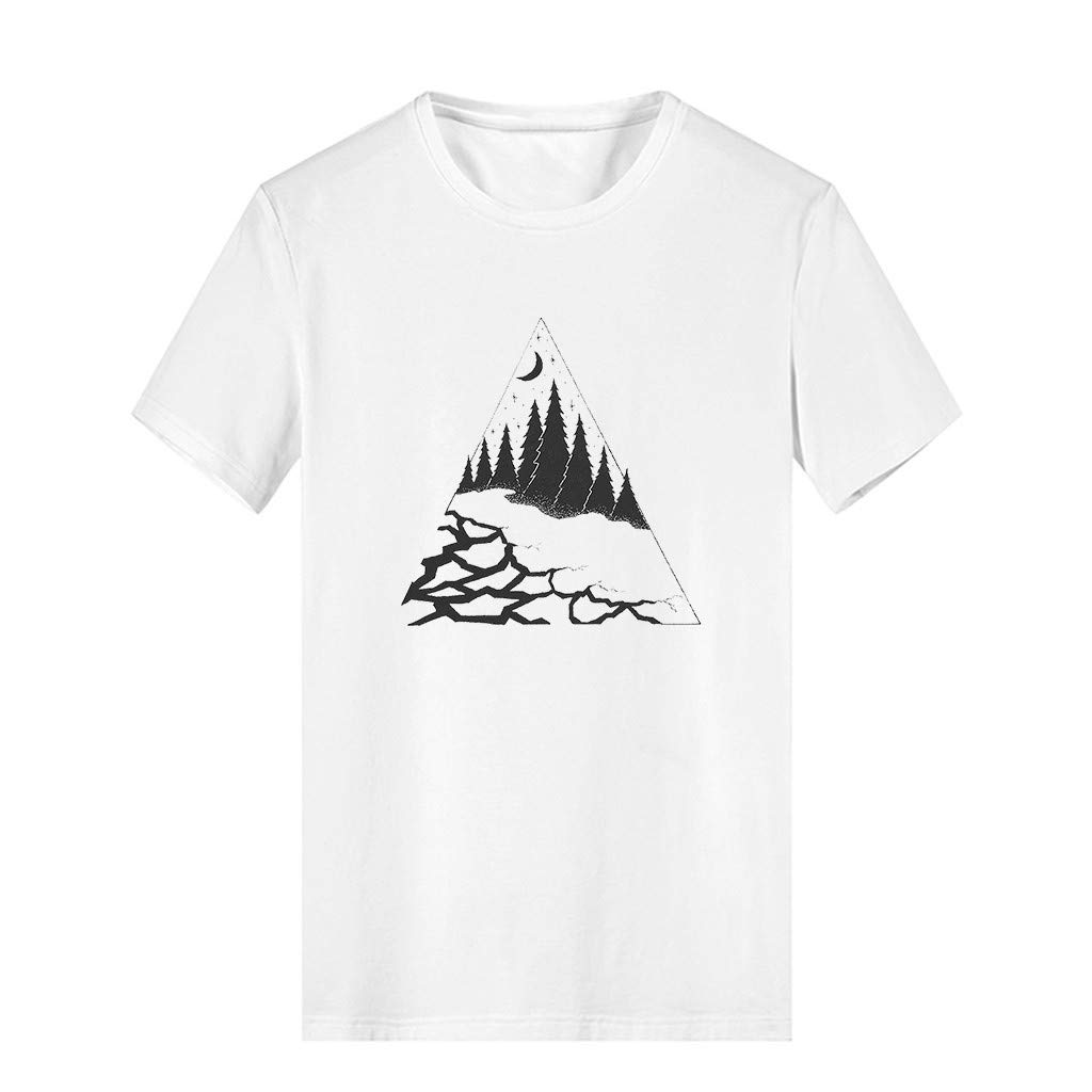 JIAJU-DJ White Short Sleeve Shirt Women Ladies Girls Fashion Cartoon Animal T-Shirt Short Sleeve Cotton T-Shirt Top