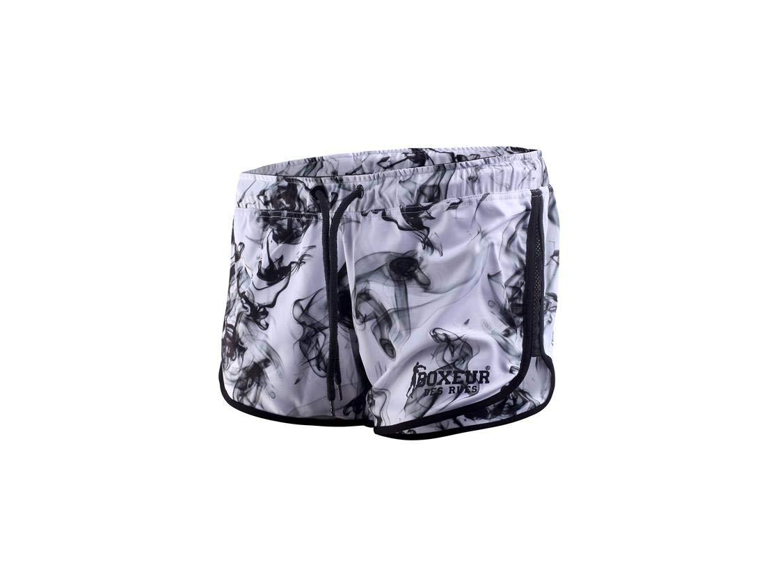 BOXEUR DES RUES Serie Fight Activewear, Pantaloncino Corto Traspirante Donna BXT-1794