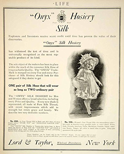 1909 Ad Onyx Silk Hosiery Edwardian Era Fashion Clothing Costume Children YLF4 - Original Print (Ork Costumes)